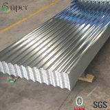 Lo zinco ha ricoperto il metallo dei materiali da costruzione galvanizzato coprendo lo strato della lamiera di acciaio