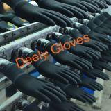 Рабочие перчатки перчатки из полиэфирного волокна черного цвета