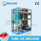 5 toneladas/fabricante comestible y transparente del día del tubo de hielo con el sistema de control del PLC (5 toneladas)