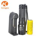 Ultra Helder Aluminium 26650/18650 Militair Tactisch Navulbaar Flitslicht van de Batterij