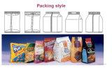 Заполнение формы Vffs заедк фасолей картофельных стружек дат попкорна говядины зерна обломоков соли зерна Nuts отрывистое и машина Dxd-420c еды уплотнения вертикальная упаковывая