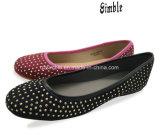 柔らかい靴の中敷を持つShoes Flat Casual Ballerina PUの上部の女性の