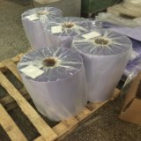 Film rétrécissable d'emballage de PVC de roulis bleu clair