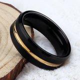 De recentste Ringen van het Carbide van het Wolfram van het Gouden Plateren van de Verkoop van het Ontwerp Hete In het groot