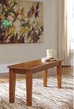 Ashleyの家具の署名デザイン-ベンチ食事するBerringer -ブラウンの長方形-偶然型-無作法な終わり