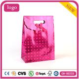 Sacs en papier enduits de cadeau d'art de rose de vacances de mode
