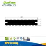 Хорошие цены против ультрафиолетового излучения на полу с канавками для использования вне помещений WPC декорированных