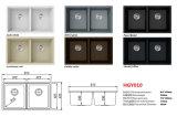 A cozinha moderna do preço de fábrica projeta dissipadores de cozinha compostos de quartzo