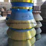 Pièces en acier élevées concaves de Maganese de qualité de Relaible et de manteau de cône de broyeur