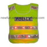 LEDの点滅の黄色い反射ベストの高い可視性のベスト