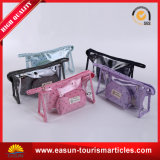 Sacchetti cosmetici della maglia viola variopinta con la maniglia