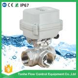 A150-T25-S2-B 3 Methode Dn25 1 Zoll motorisiertes Ventil DC12V Cr2 01 mit Korrekturmöglichkeit von Hand