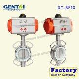 Хороший тип клапан-бабочка Dn100 вафли Quanlity пневматический нержавеющей стали