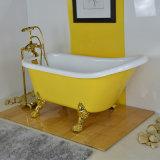 Gelbe Farben-glatte fertige Badewanne, Großhandelsrabatt Homeware Wanne (BG-7006I)