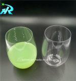 4oz Kop van de Wijn van het Glas van de Wijn van het huisdier de Witte Plastic Stemless