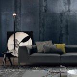 Sofá moderno do couro do assento de amor do estilo para a sala de visitas (L036A)