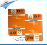 Carte en plastique de PVC de carte d'adhésion de qualité