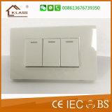Interruptores elétricos da parede do interruptor de controle da velocidade do ventilador
