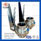 Valvola a farfalla manuale del morsetto igienico dell'acciaio inossidabile TCI