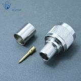 Connecteur mâle coaxial du sertissage N de rf pour le câble LMR400