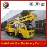 Dongfeng Lifting16mの高度操作のトラック、油圧人の上昇の空気作業プラットホームのトラック