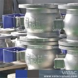 Pneumatische Edelstahl Ss304/Ss316 HF flanschte Segment-Kugelventil