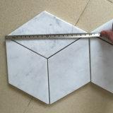Venda por atacado de mármore branca da telha de Carrara da decoração do assoalho e da parede do hotel