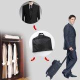 까만 Foldable 호화스러운 지퍼 옥스포드 여행용 양복 커버 한 벌 덮개