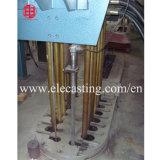 La varilla de cobre que planta arriba máquina de colada continua