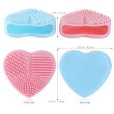Les silicones de coeur composent le panneau propre cosmétique d'épurateur de lavage de garniture de nettoyeur à brosse de couvre-tapis
