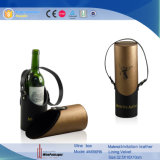 Center-Opening Round 1 bouteille de vin en cuir Carrier (4656)