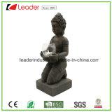 홈과 정원 훈장을%s 촛대를 가진 Polyesin Buddha 동상 작은 조상