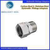 Montaggio di tubo flessibile idraulico diritto del gomito materiale d'acciaio, flangia ed adattatori idraulici