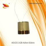 Bobina de voz do alumínio das peças 25.5mm do altofalante
