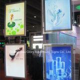 LED Frameless 아크릴 광고 수정같은 가벼운 상자