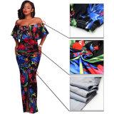 Heiße Verkaufs-Form WegSchulter elegante Drucken-Frauen-Kleider