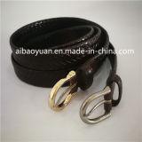 Courroie classique de courroie en cuir de boucle de Pin de couleur d'or