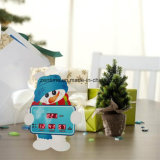 Reloj de alarma del escritorio de la cuenta descendiente del regalo de la Navidad del diseño LED Digital del muñeco de nieve
