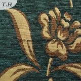 Tela de alto grado del paño del Chenille de oro verde del telar jacquar (FTH31225)