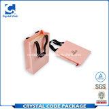 Sac de papier de empaquetage estampé par logo fait sur commande de mariage de cadeau