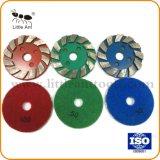 Les plaques de broyage de diamant de haute efficacité avec du velcro pour le polissage de plancher