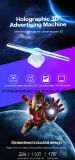 3D 42cm Ventilador de holograma para mostrar publicidad interior Publicidad