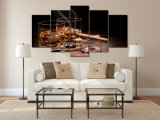 HD Printed Still Wine Cigar Painting Canvas Print Room Decoration Print Poster Picture Canvas