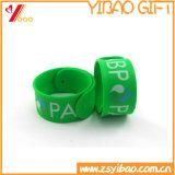 Bracelet de papa de silicones de bracelet de silicones d'impression de l'orange 330*30*2mm Cmyk (YB-WT-5)