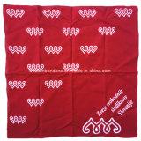 I prodotti della fabbrica progettano la sciarpa per il cliente della fascia del cotone della stampa di schermo 22*22inch