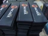 Мягкое сбывание циновок штанги ткани и резины высокого качества напечатанное логосом
