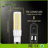 Bulbo do diodo emissor de luz de SMD 2835 7W G9 mini com base de Cermic para a iluminação Home