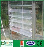 Алюминиевое стеклянное жалюзиий Windows с экраном мухы волокна