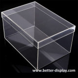 Boîte de présentation claire acrylique faite sur commande d'espadrille