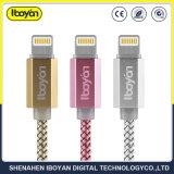 Настраиваемый логотип USB-кабель передачи данных от воздействий молнии зарядное устройство для мобильных телефонов